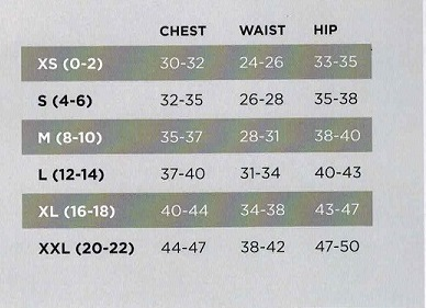 NB Womens Size Chart just sizes